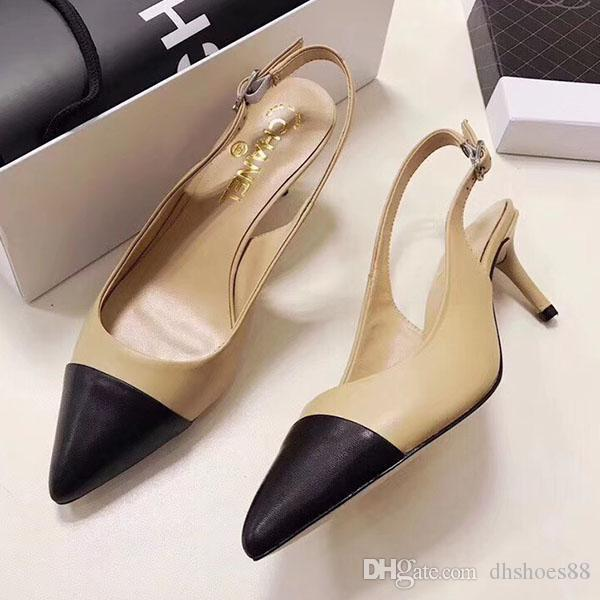 lussoScarpe di lusso della donna Tacchi alti sandali scarpe classiche Superstars donne scarpe da sera di modo di formato donne degli alti talloni delle scarpe 35-4