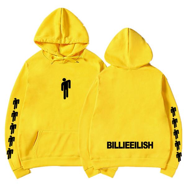 Billie Eilish Mode Printed Sweats à capuche Femmes / Hommes manches longues à capuche Sweats 2019 Casual Trendy Streetwear Sweats à capuche