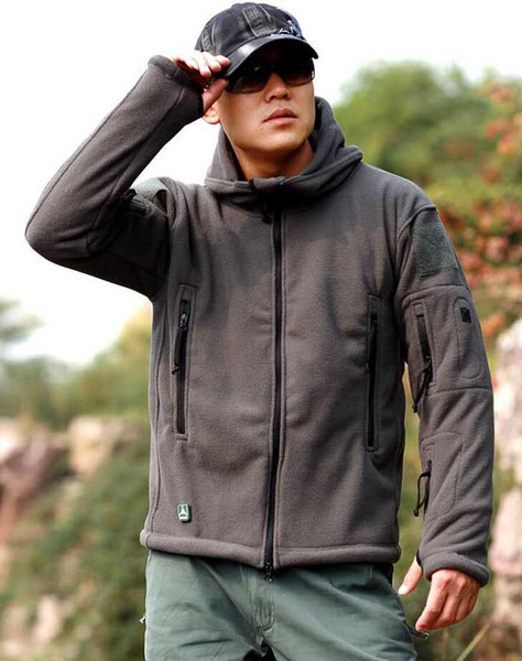 Зима военная тактическая на открытом воздухе Softshell флисовая куртка мужчины армия США спортивная одежда теплая повседневная толстовка пальто куртка #129