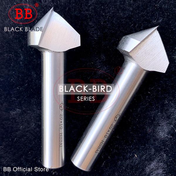BB 90 Derece Havşa Pah Freze Takım V Çekirdek Matkap HSS 1 3 Flüt Metal Pah CutterOrifice Gül Raybası Koyu