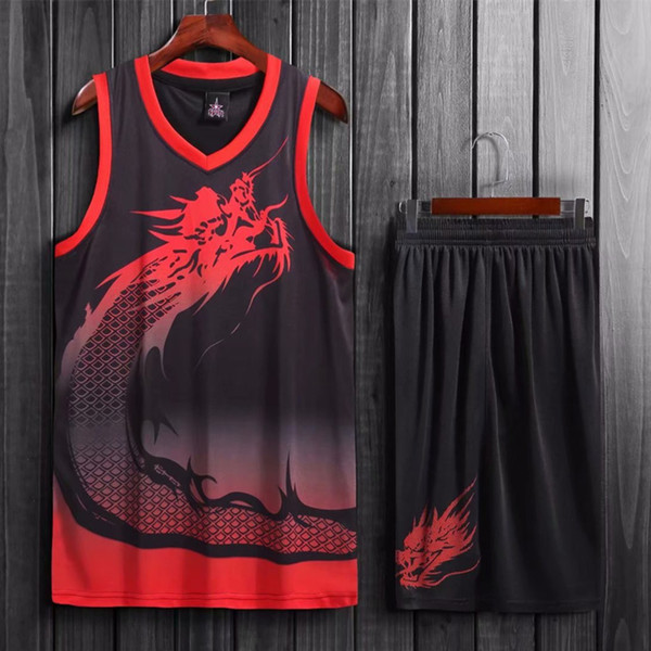 Men Basketball Jersey Sets Uniforms Sports Kit Clothes Team Basketball Jerseys Shirts Suit Breathable Quick Dry Print Customized C18122501