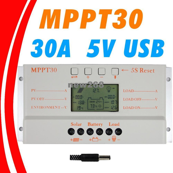 Freeshipping MPPT 30A LCD Solar Charge controller 12V 24V auto switch LCD display MPPT30 Solar charge controller MPPT 30 charger controller