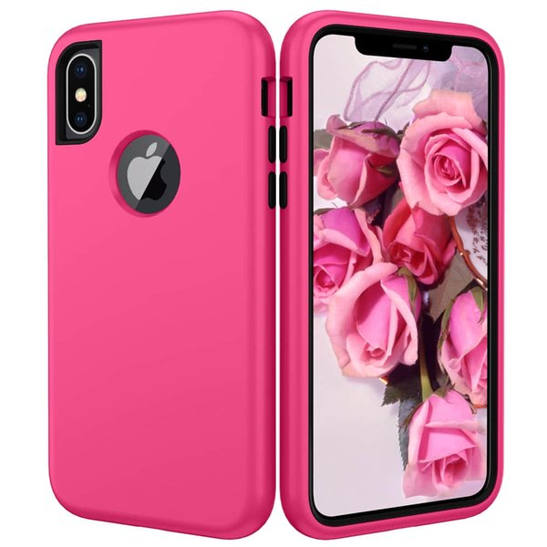New Shockproof Dual layer silion for Shock Resisant cell phone case cover for Iphone XS max X 6S 7 8 PLUS SAMSUNG NOTE 9 S8 S9 S10