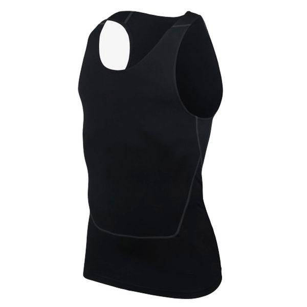 Fashion Men Compression Atmungsaktive Weste Shirts Base Line Schwarz Weiß Workout Fitness Ärmelloses Shirt Bodybuilding Tanktops S-2XL