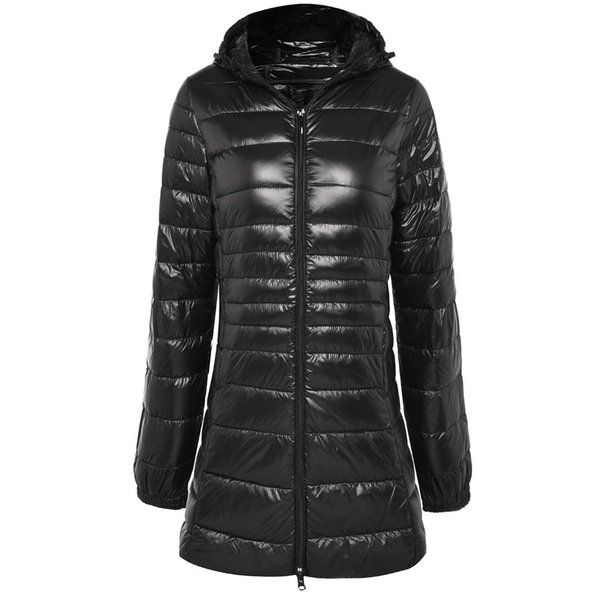 New Casual Brand Ladies Long Lightweight Warm Coat Women Ultra Light White Duck Down Jacket Women's Hooded Parka Female Jackets
