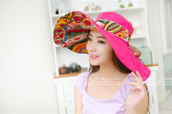 Fashion 2019 Women's Summer Sun Hat Folding Beach Hat Big Edge Outdoor Sun Protection Hat UV Protection