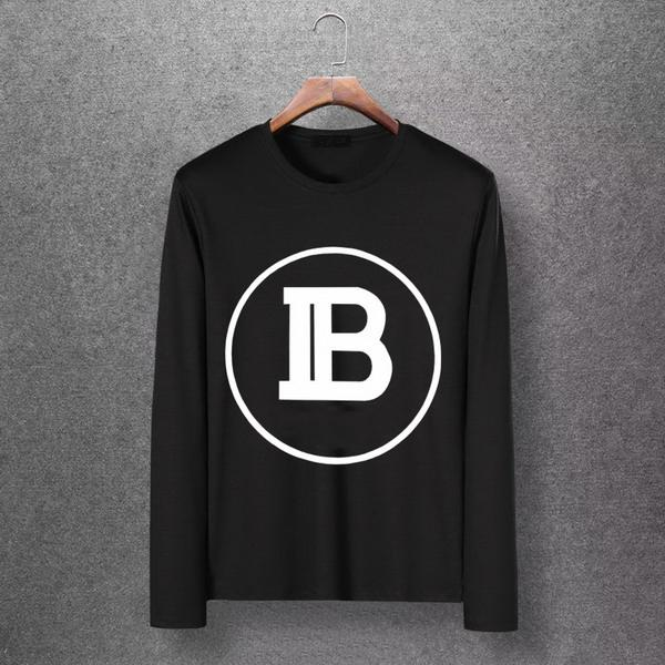 2019 New Designer Brand Mens Fashionable Long Sleeve Shirt M-6XL High Quality Youth Shirts Casual Spring Autumn Tops T-Shirts EAR98306