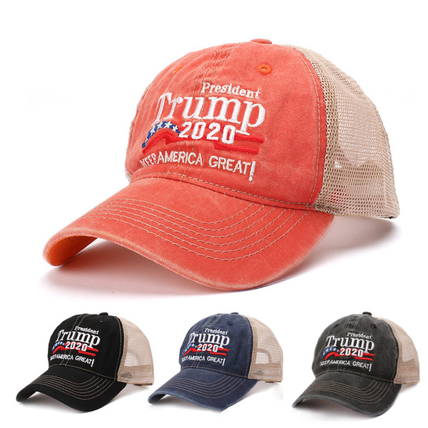 top popular Keep America Great 2020 Hat Trump Donald Embroidered Baseball Caps Hat 4 Colors Adjustable US Campaign Trump Sports Baseball Caps BH2040 CY 2021