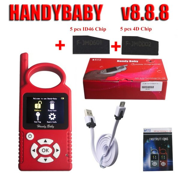 Hand-Held CBAY Handy Baby Handybaby v8.8.8 Car Key Programmer can Open G Function Chip Copy Tool With 4D ID46 Chip Each 5PCS