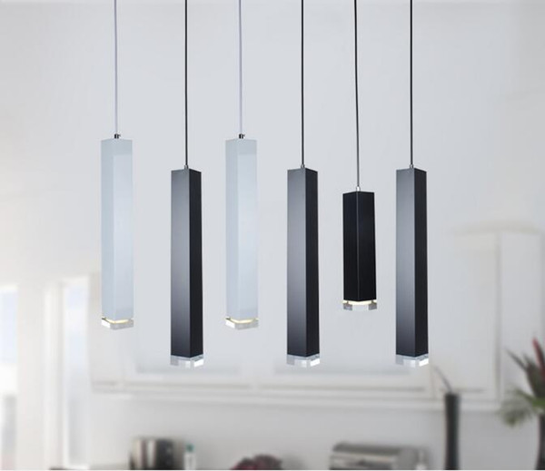 Led Pendant Lamp Dimmable Lights Kitchen Island Dining Room Shop Bar  Counter Decoration Cylinder Pipe Hanging Lamps Copper Pendant Lighting  Island ...