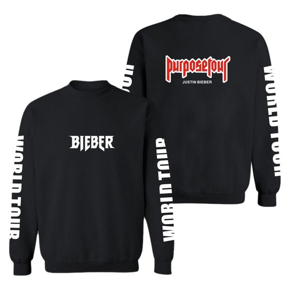 Justin Bieber Purpose Tour Capless hoodies men hip hop Casual Black mens hoodies and sweatshirts Fashion Funny Skateboard Clothe