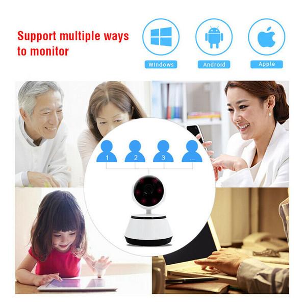 Yeni V380 8G kartı WiFi IP kamera akıllı Ev kablosuz Gözetleme Kamerası Güvenlik Kamerası Micro SD Ağ Dönebilir CCTV IOS PC GPS