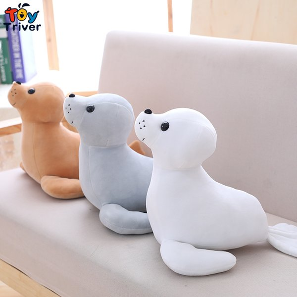 35cm Sea Lion Seal Sea Dog Plush Toy Triver Stuffed Ocean Animal Baby Kids Children Birthday Gift Home Decor Drop Shipping