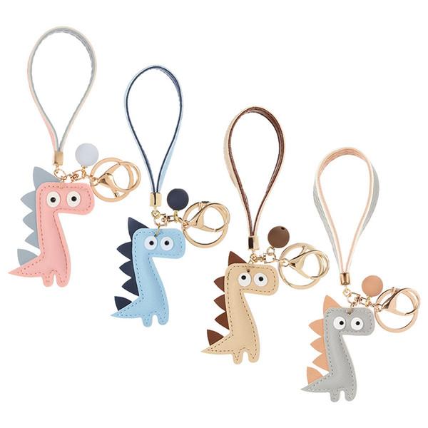 Popular Pvc Soft Glue Dinosaur Key Ring Pendant Cute Bag Hang