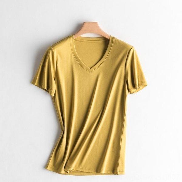 V cuello mostaza verde amarillo
