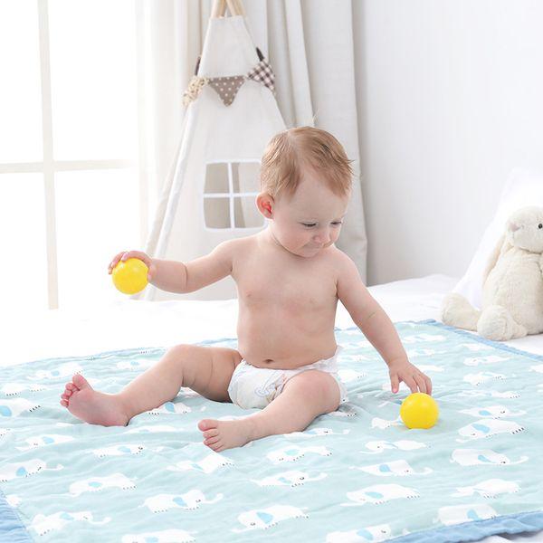 100% хлопок Baby пеленает Мягкие Новорожденные Одеяло Ванна марлевые Infant Wrap Sleepsack коляска Обложка Play Mat Детские Cartoon печати Банное полотенце