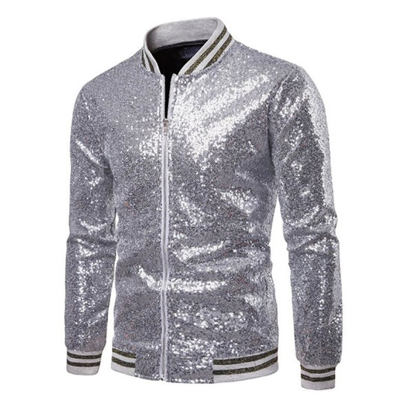 black gold outfit party Coupons - Men Coats Fashion Sequins Shiny Jackets  New Man Party Bar 2f8ecfd3a