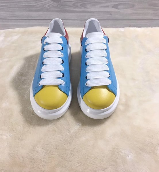 2019 new loafers fashion sneakers shoes for men women high top Designer sports shoes Best breathable shoes woman sneakers blue size 35-45