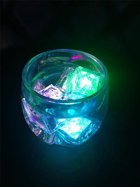 Renkler Mini Romantik Aydınlık Küp LED Yapay Buz Küpü Flaş LED Işık Düğün Noel Dekorasyonu Parti