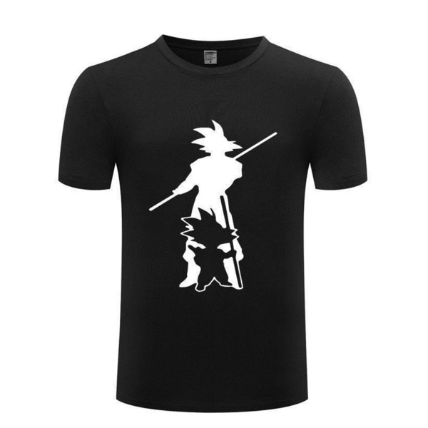 Tee Shirt Homme Summer Short Sleeve Dragon Ball Summer Short Sleeve T Shirts Men 100% Cotton
