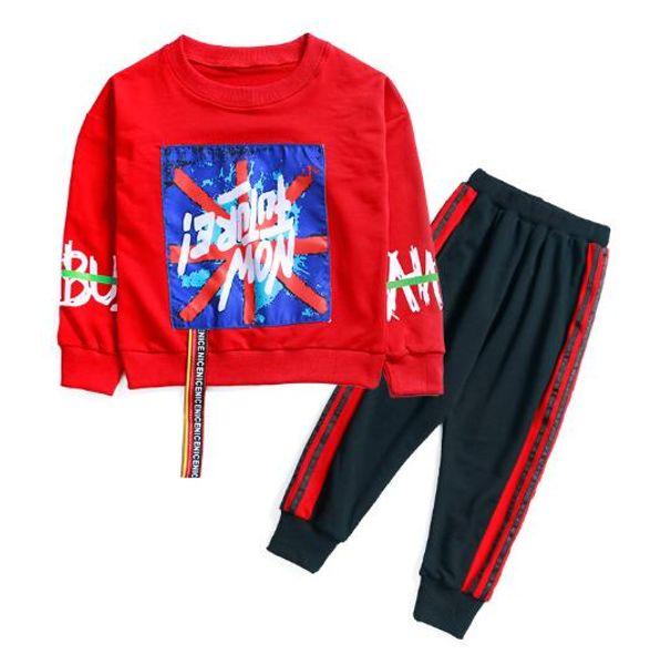 2019 garçon Ensembles Enfants Bébé 2-9 ans vend le meilleur nouvel automne chemise garçon pull à capuche veste sport garçon à capuchon costume 3 tailles de couleur BODX