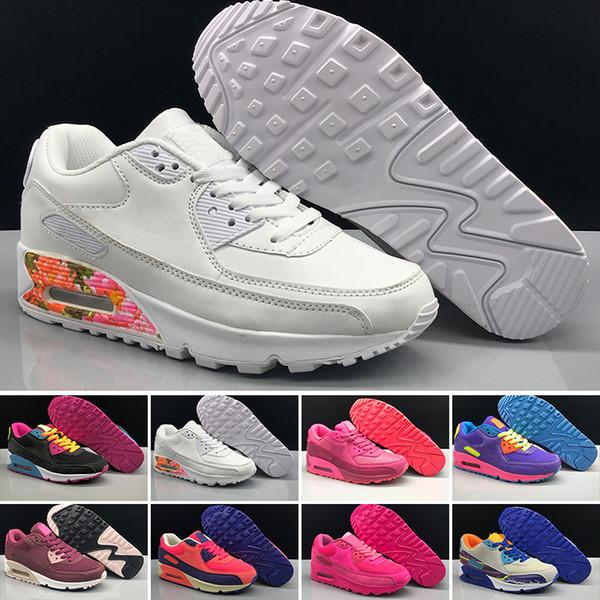Großhandel Nike Air Max 90 2019T Billig Sale 90 90er Jahre Männer Frauen Laufschuhe Triple Schwarz Weiß Rot Cny Oreo Jogging Outdoor Trainer Herren
