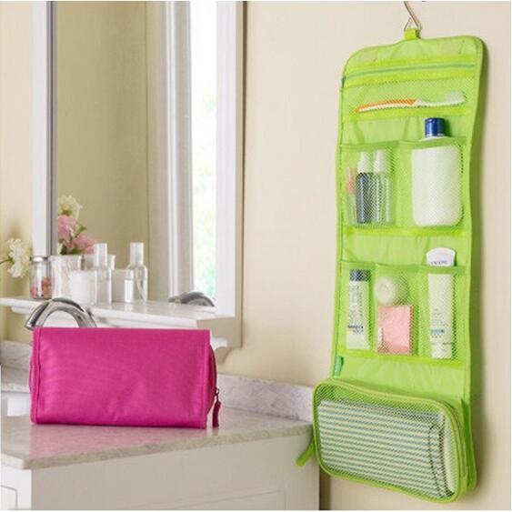 Roll Up Fold Travel Kit de aseo Ropa interior Organizador de almacenamiento Maquillaje Bolsa de cosméticos Bolsa de lavado Envío gratis