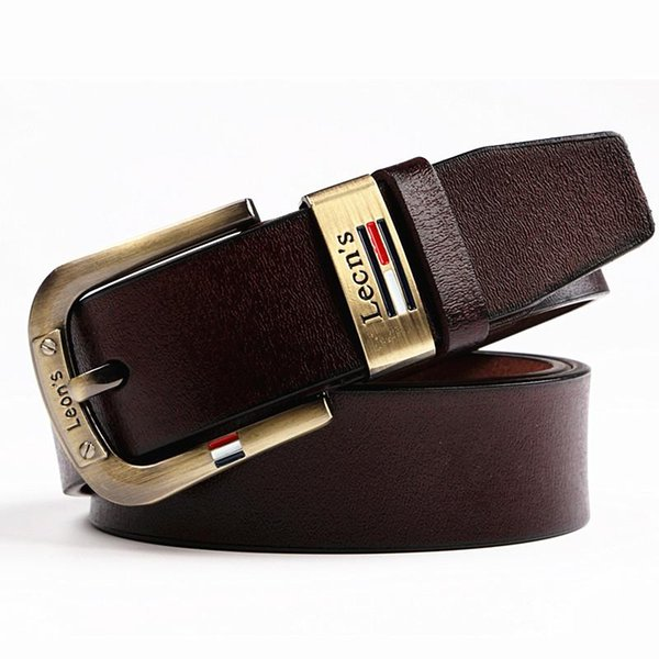 35023592927 100% cuir de vachette ceintures en cuir véritable hommes cow-boy ceinture de  luxe