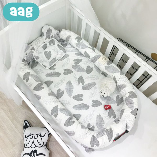 ae40e6c3b2 AAG Portable Baby Nest Bed Cribs Pure Cotton Nursery Travel Folding Baby  Bed Infant Toddler Cradle Multifunction Storage Bag