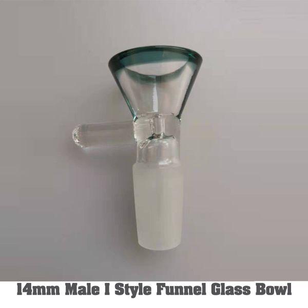 14mm Hombre Situación Estilo embudo de vidrio tazón de fuente