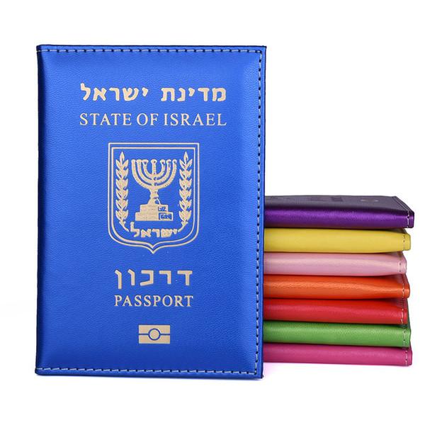 O Estado De Israel Pu Capa De Passaporte De Couro Israelitas Mulheres Homens Passaporte Titular de Viagem Caso Passaporte