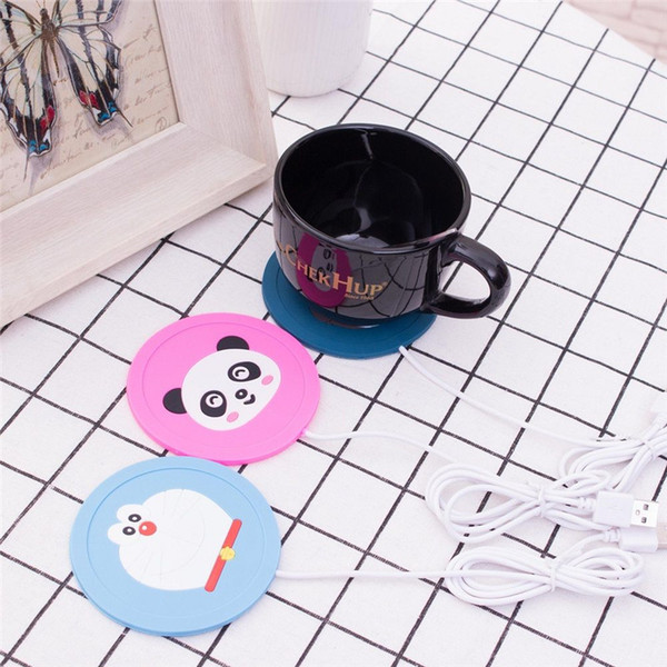 1Pc Cute Cartoon 5V USB Warmer Silicone Heat Heater for Milk Tea Coffee Mug Hot Drinks Beverage Cup Mat Kitchen Tools C18113001