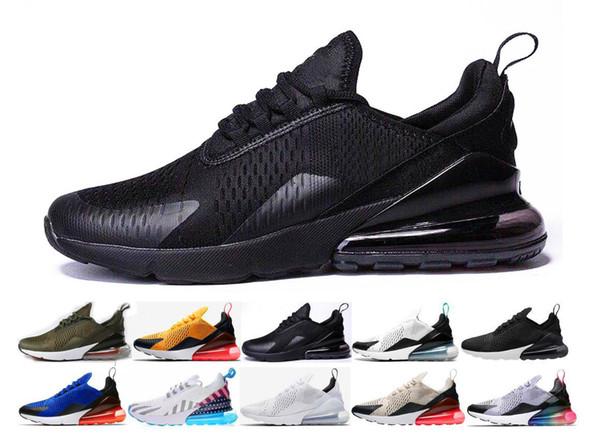 Nike Air Max 270 Zapatos Trainer Cojín Zapatillas para correr triples Hombres Mujeres Negro Blanco Presto Sport Shock Walking Senderismo Air 270 Designer Run Zapatillas al aire libre