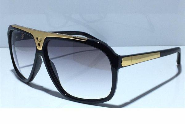 Moda para hombre de lujo de diseño evidencia las gafas Versión actualizada Z0350W Serie MILLONARIO diseñador del marco Gafas de sol brillante del oro con la caja