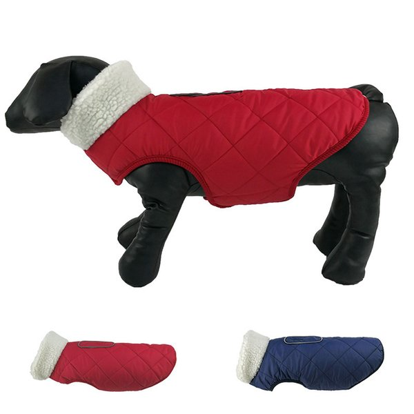 Fashion Pets Cotton-padded Clothes Warm Dog Clothes Winter Reflect Light Security Loose Coat Outdoors Cats Dog Puppy Jackets Wholesale