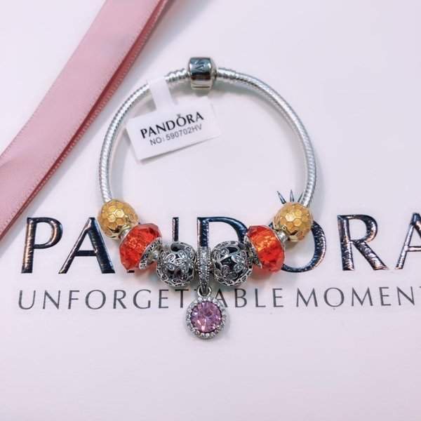 Designer Luxury Silver Women Bow chain Bangle cuff Fashion Jewelry Big hole Bracelet Valentine Day gift