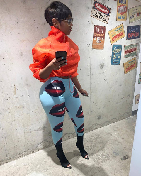 3D Printed Womens Pants High Waist Pencil Pants Sexy Skinny Stretch Leggings Fashion Mouth Womens Clothing