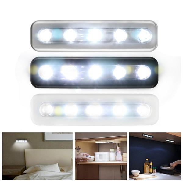 Mini LED Wireless Night Light Motion Sensor Lights Wall Emergency Night Lamp AAA