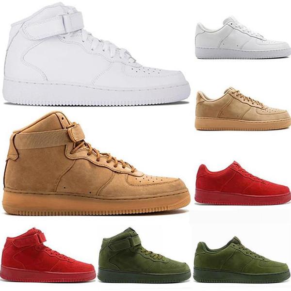 2019 kuvvetler Erkekler Kadınlar Low Cut bir 1 ayakkabı Beyaz Siyah Dunk Kaykay Ayakkabı Klasik moda lüks erkek kadın tasarımcı sandalet ayakkabı