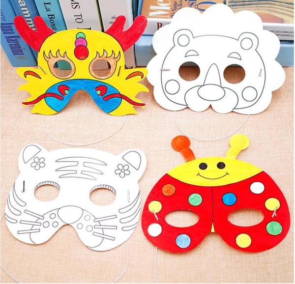 16designs Kids Diy Cartoon Animal Painting Mask Kindergarten