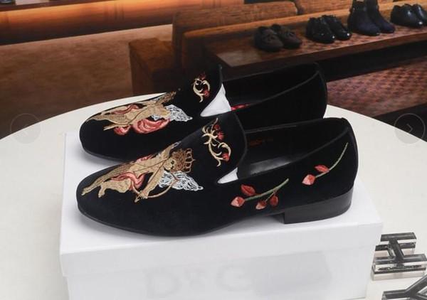2019 nouvelles chaussures habillées design mens enclenchent métal en cuir véritable pois mariage chaussures chaussures pour hommes de la mode classique grande taille mocassins kj03