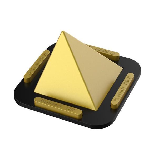 Support de téléphone portable mini pyramide en silicone 4 angles tableau de bord montage sur bureau anti-dérapant universel berceau portable pour les téléphones tablettes