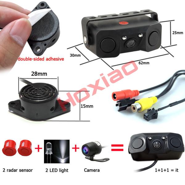 Car Reverse Parking Camera With Radar Sensor auto Rear View Cameras Night Vision Rear View Radar Parking Sensor 170 Degree