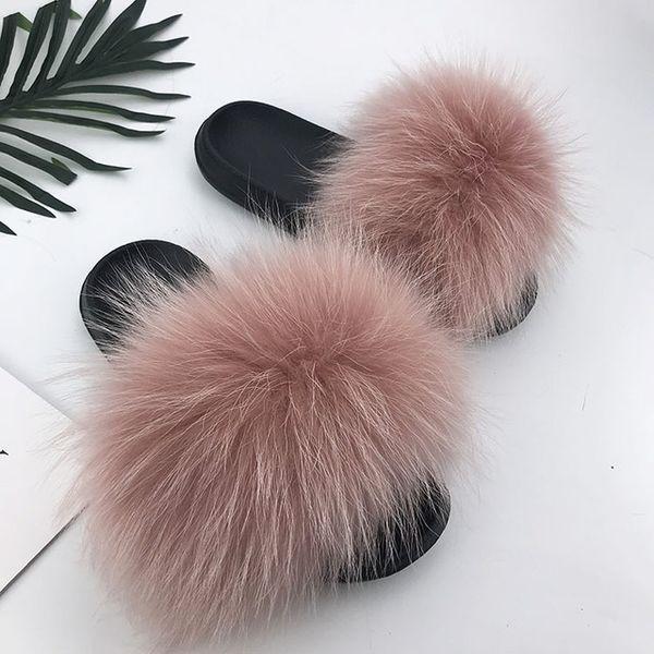 Raton laveur slippers_5 fourrure