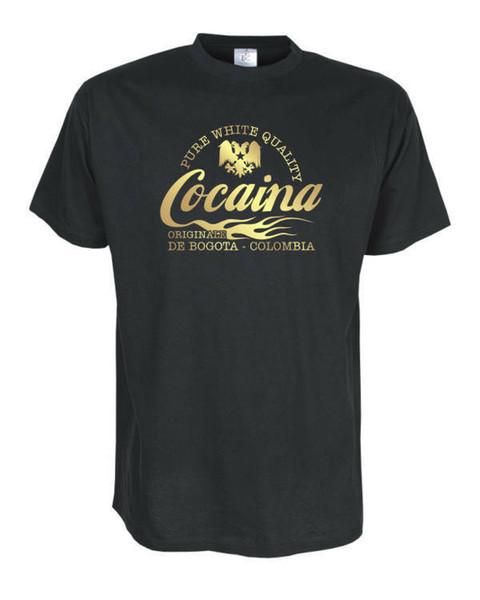 Cocaina de Colombia, Tişört, Funshirts, große Größen und Übergrößen (UGRBL056)