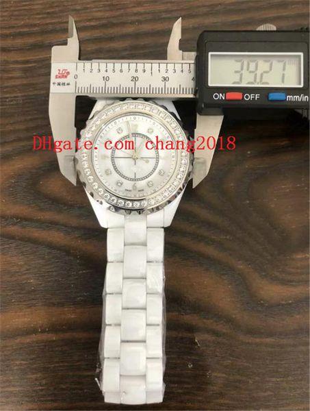 Venta caliente 2019 reloj de lujo para mujer relojes de diamantes Correas de cerámica mujer relojes ww501