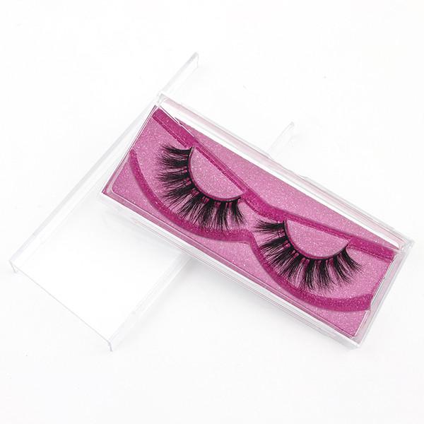 Banda De Algodão preto 3D Pele De Vison Longo e Grosso Vison Strip Private Label Maquiagem Natural 3D Mink Cílios 3D131