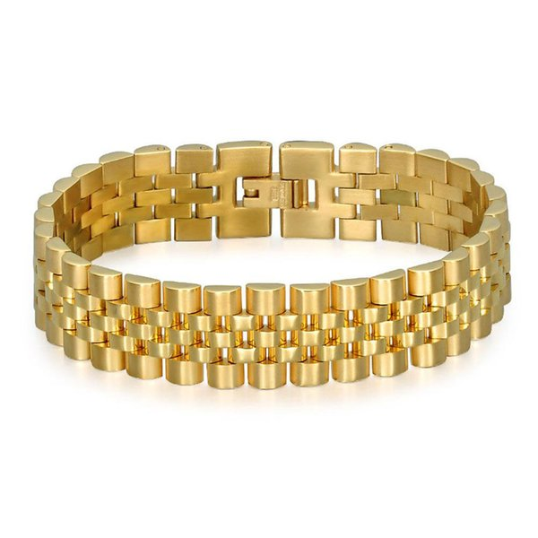 Beichong Fashion Jewelry Watch belt Multilayer Gold Silver Stainless Steel Chain Bracelet High Quality for women men gift