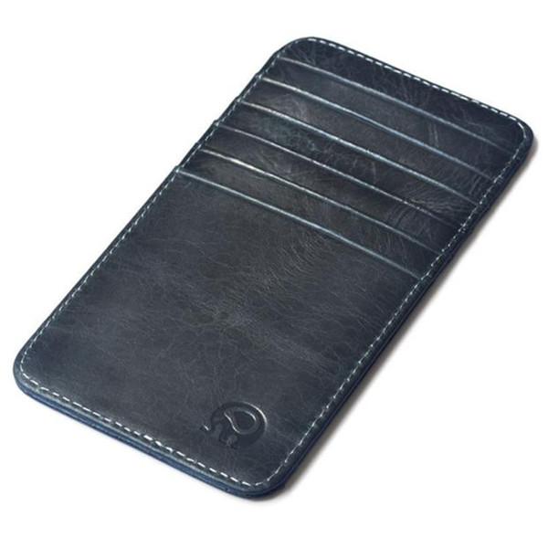 Genuine Leather Men Porte Carte Cardholder Wallet For Credit Cards Slide Vintage Card Case Wallet Id Bus Name Card Credit Card