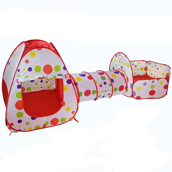 3pcs / set tente de jeu bébé jouets balle pour enfants tipi tente piscine piscine à balles puits bébé tente maison rampant tunnel